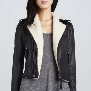 Joie shearling leather Ailey jacket
